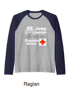 Raglan Long Sleeve TShirt JeepWavers