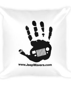 JeepWavers Logo Basic Pillow Pillows JeepWavers