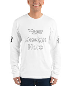 YOUR DESIGN on this Long sleeve t-shirt Unisex