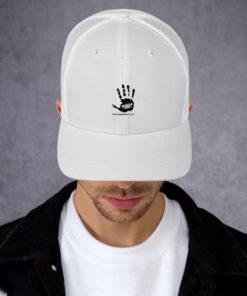 JeepWavers Logo White Trucker Cap Caps JeepWavers