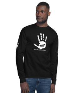 JeepWavers Logo Black Men's Champion Long Sleeve Shirt Long Sleeve T-Shirts JeepWavers