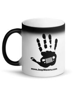 JeepWavers Logo Matte Black Magic Mug Mugs JeepWavers