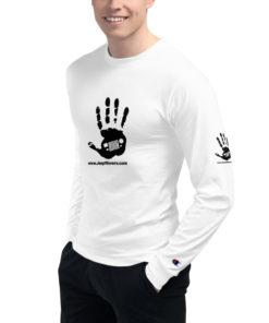 JeepWavers Logo White Men's Champion Long Sleeve Shirt Long Sleeve T-Shirts JeepWavers