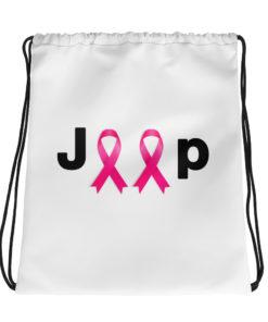 Jeep Breast Cancer Logo Drawstring bag Drawstring Breast Cancer