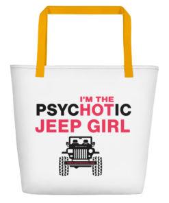 PsycHOTic Jeep Girl Beach Bag Beach Bags Hot Girl