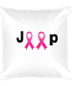 Jeep Breast Cancer Logo Basic Pillow Pillows Breast Cancer