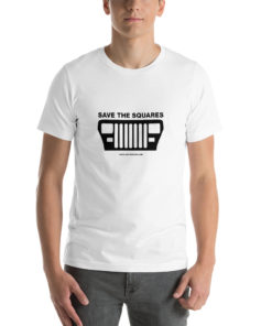 Jeep Save The Squares Short-Sleeve Unisex T-Shirt T-Shirts Square Lights