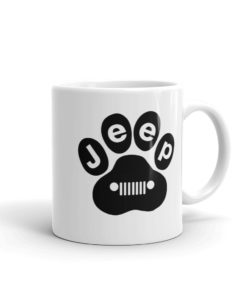 Jeep Black Paw Mug Mugs Paw