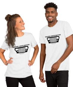 Jeep Square Lights Matter Short-Sleeve Unisex T-Shirt T-Shirts Square Lights