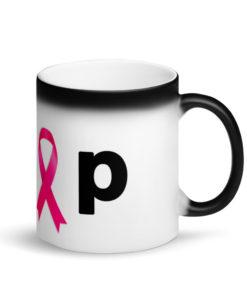 Jeep Breast Cancer Logo Matte Black Magic Mug Mugs Breast Cancer