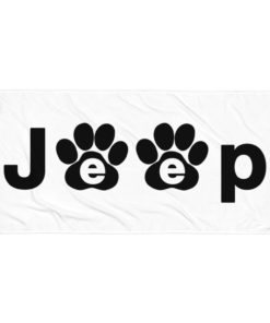 Jeep Black Paw Logo Towel