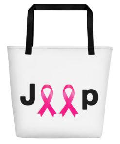 Jeep Breast Cancer Logo Beach Bag Beach Bags Breast Cancer