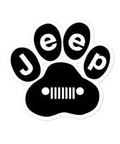 Jeep Black Paw Bubble-free stickers Stickers Paw