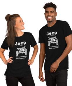 Jeep Always Imitated, Never Equaled Short-Sleeve Unisex T-Shirt 2 T-Shirts Never Equaled