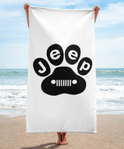 Jeep Black Paw Towel Towels Paw