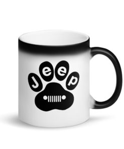 Jeep Dog Paw Matte Black Magic Mug Mugs Paw