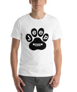 Jeep Black Paw Short-Sleeve Unisex T-Shirt T-Shirts Paw