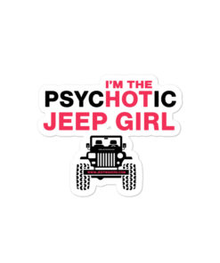 PsycHOTic Jeep Girl Bubble-free stickers Stickers Hot Girl