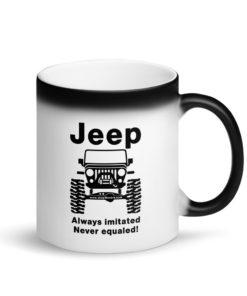 Jeep Always Imitated, Never Equaled Matte Black Magic Mug Mugs Never Equaled
