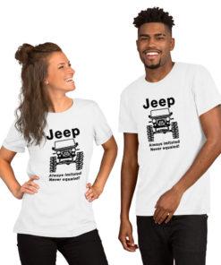 Jeep Always Imitated, Never Equaled Short-Sleeve Unisex T-Shirt T-Shirts Never Equaled