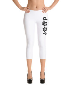 Jeep Black Paw Logo Capri Leggings