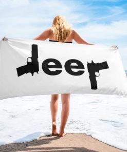 Jeep Guns Towel Towels Gun