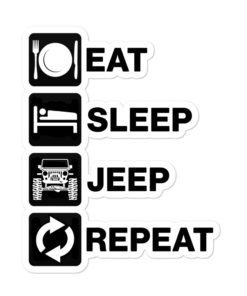 Eat Sleep Jeep Repeat stickers