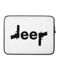 Jeep guns Laptop Sleeve Laptop Cases Gun