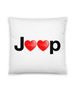 Jeep Hearts Basic Pillow Pillows Hearts