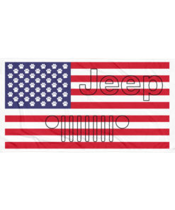 Jeep Paw US Flag Towel