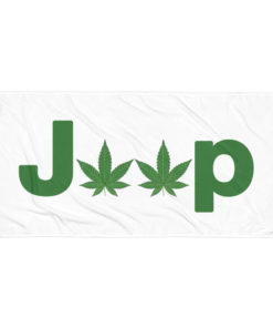 Jeep Cannabis Weed Towel