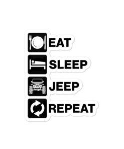 Eat Sleep Jeep Repeat 2 Bubble-free stickers Stickers Eat Sleep