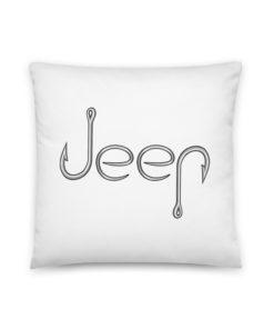 Jeep Hooks Logo Basic Pillow Pillows Fishing