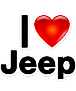 I Love Jeep Bubble-free stickers Stickers I Love Jeep