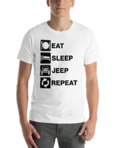 Eat Sleep Jeep Repeat 2 Short-Sleeve Unisex T-Shirt T-Shirts Eat Sleep
