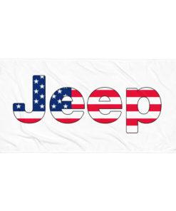 Jeep USA Flag Towel