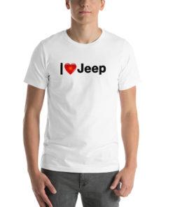 I Love Jeep B Short-Sleeve Unisex T-Shirt T-Shirts I Love Jeep