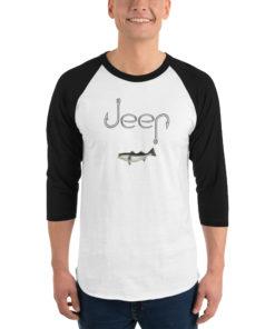 Jeep Hooks Logo 3/4 sleeve raglan shirt