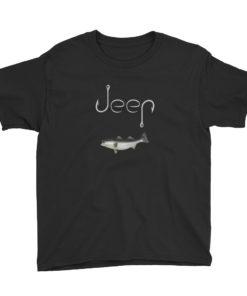 Jeep Hooks Logo Youth Short Sleeve T-Shirt T-Shirts Fishing
