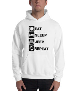 Eat Sleep Jeep Repeat 2 Unisex Hoodie Hoodies Eat Sleep