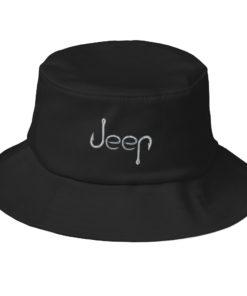 Jeep Hooks Logo Old School Bucket Hat Buckets Fishing