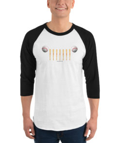 Jeep Baseball Grill 3/4 sleeve raglan shirt 3/4 Sleeve Raglan Shirts Baseball