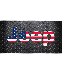 Jeep USA Flag Diamond Plate Towel