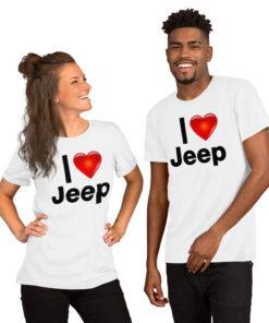 I Love Jeep Short-Sleeve Unisex T-Shirt T-Shirts I Love Jeep
