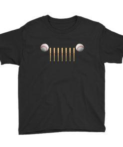Jeep Baseball Grill Youth Short Sleeve T-Shirt T-Shirts Baseball