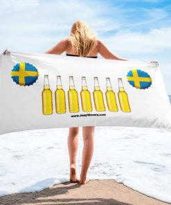 Sweden Beer Bottles Jeep Grill Towel Towels Beer