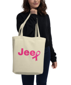 Jeep Breast Cancer Logo Eco Tote Bag Tote Breast Cancer