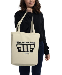 Jeep Save The Squares Eco Tote Bag Tote Square Lights
