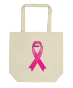 Jeep Breast Cancer Ribbon Eco Tote Bag Tote Breast Cancer