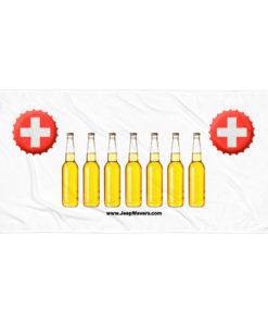 Switzerland Beer Bottles Jeep Grill Towel Towels Beer